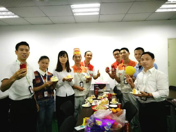 欢乐共庆工程部罗少生日!