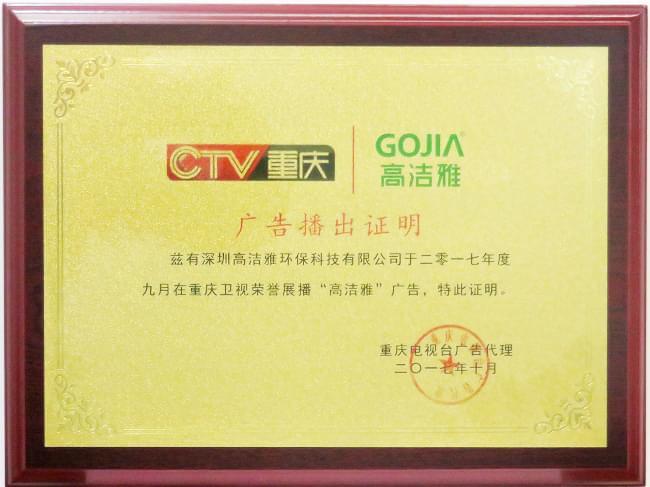 高洁雅重庆卫视电视广告