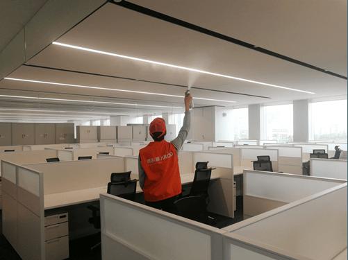 深圳办公区域除甲醛案例——达实智能大厦
