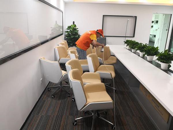 高洁雅除甲醛办公室案例:地王大厦筑梦之星办公室