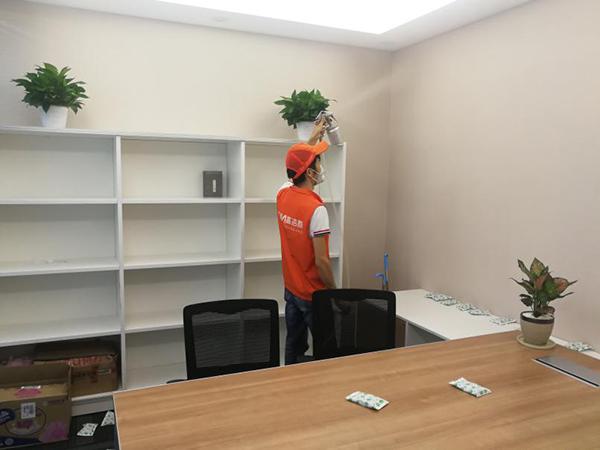 高洁雅除甲醛办公室案例:荣超经贸中心