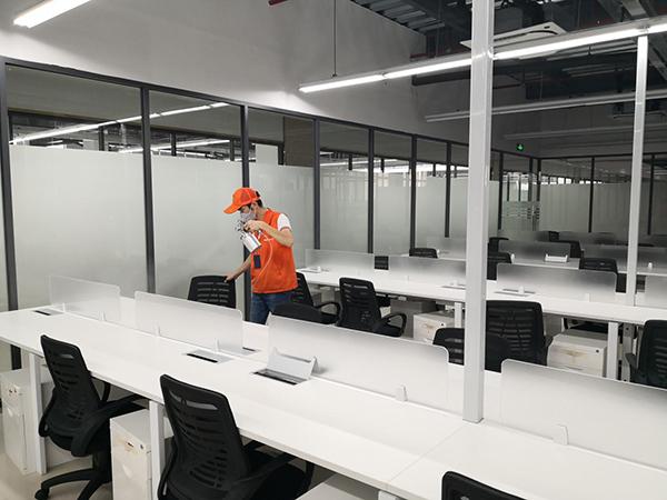 高洁雅办公室除甲醛案例:软通动力