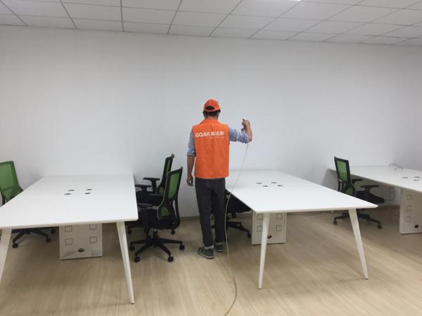 高洁雅办公室除甲醛案例:雅翔百年佳大厦