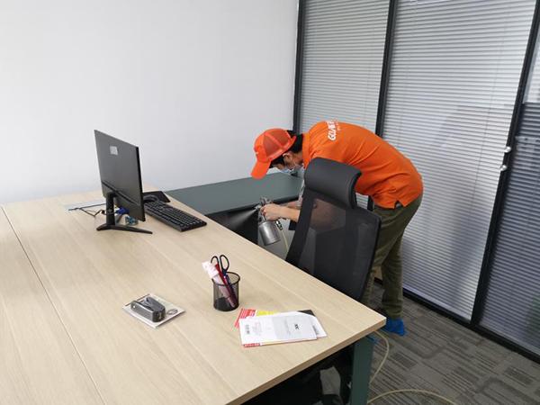 高洁雅办公室除甲醛案例:华嵘大厦